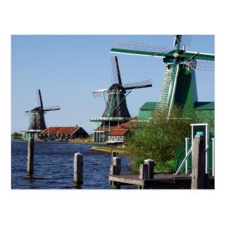 De Nederlandse windmolens van Schans van Zaanse in Briefkaart