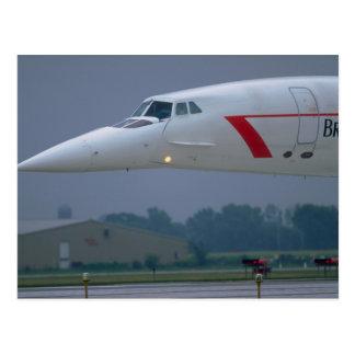 De neus van de naald van British Airways Concorde Briefkaart