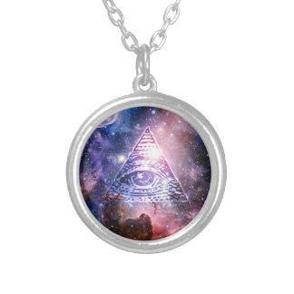 De nevel van Illuminati Zilver Vergulden Ketting