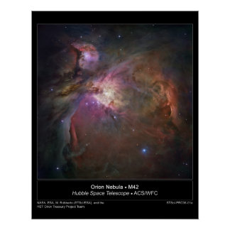 De Nevel van Orion - M42 poster