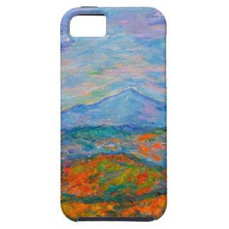 De nevelige Blauwe Herfst van de Rand Tough iPhone 5 Hoesje