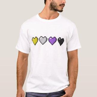 De niet binaire Harten van het Pixel T Shirt