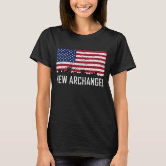 De nieuwe Amerikaanse Vlag Distres van de Horizon T Shirt