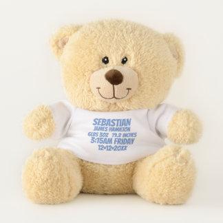 De nieuwe Baby Gepersonaliseerde (blauwe) Knuffelbeer