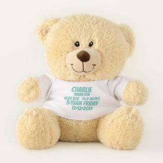 De nieuwe Baby Gepersonaliseerde (groene) Knuffelbeer