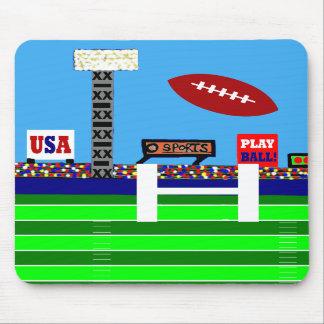 De nieuwe Gift van Mousepad van het Football van 2 Muismat