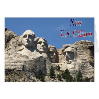 De nieuwe Groeten van de Burger van de V.S. Kaart