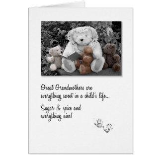 De nieuwe Grote Teddybeer Storytime van de Oma Briefkaarten 0
