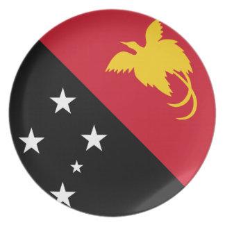 De Nieuwe Guinese Vlag van Papoea Melamine+bord