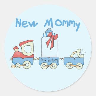 De Nieuwe Mama van de trein van de t-shirts en de Ronde Stickers