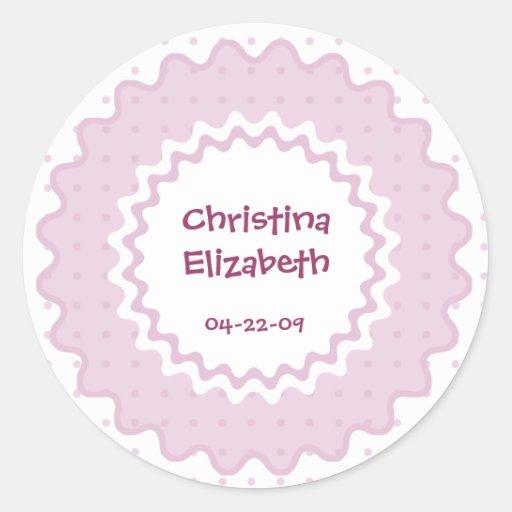 De nieuwe Naam van het Baby, de Sticker van de