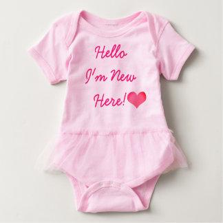 De nieuwe Nieuwe hier bodysuit-Tutu van het Baby Romper