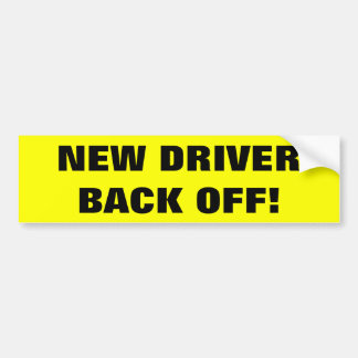 De nieuwe Sticker van de Bumper van de Bestuurder Bumpersticker