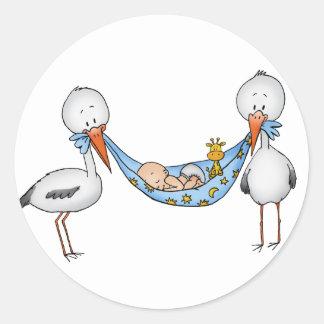 De nieuwe Sticker van de Jongen van het Baby - de