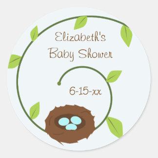 De nieuwe Sticker van het Baby shower van het