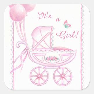De nieuwe Stickers van het Baby het is een Roze