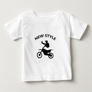 De nieuwe stijl van de fiets baby t shirts