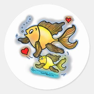 De nieuwe Vissen van het Baby Ronde Sticker