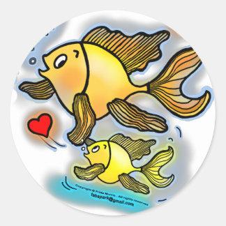 De nieuwe vissen van het Baby Ronde Stickers