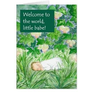 De nieuwe Welkome Kaart van het Baby