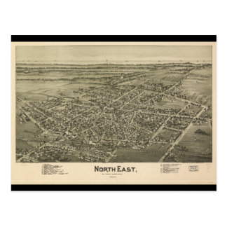 De noordoostelijke Provincie Pennsylvania van Erie Briefkaart