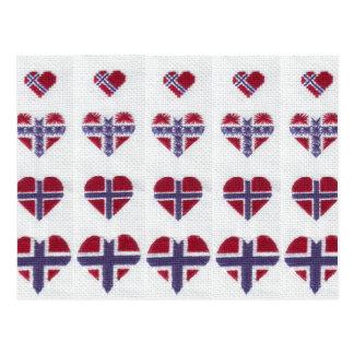 De Noorse DwarsSteek Noords Noorwegen van het Hart Briefkaart