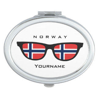 De Noorse spiegel van de de douanezak van Make-up Spiegel