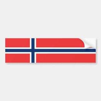 De Noorse Vlag van Noorwegen/ Bumpersticker
