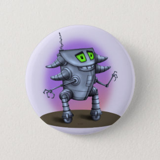 De Norm van de CARTOON van de ROBOT van de Ronde Button 5,7 Cm