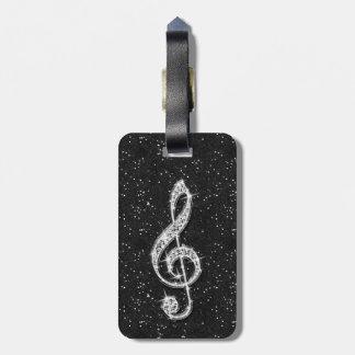 De Nota van de Muziek van de Diamant van Glitzy Kofferlabel