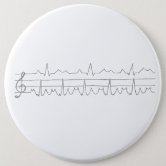 De Nota van de Muziek van het electrocardiogram Ronde Button 6,0 Cm