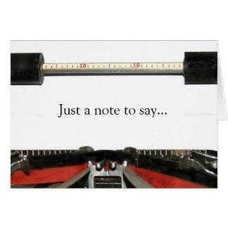 De nota van de schrijfmachine briefkaarten 0