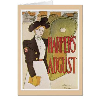 De notakaart van Augustus van Harper Notitiekaart