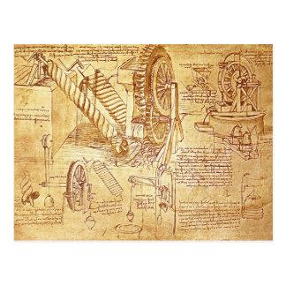 De Nota's van da Vinci Briefkaart
