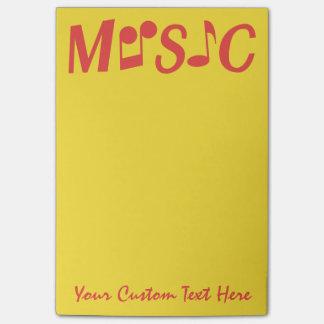 De nota's van de de douanePost-it van de MUZIEK Post-it® Notes