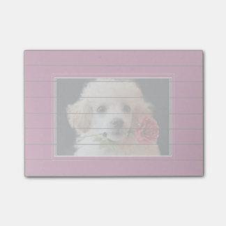 De nota's van de het puppyPost-it van de Poedel Post-it® Notes