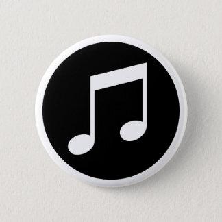 De Nota's van de muziek Ronde Button 5,7 Cm