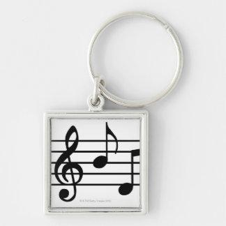 De Nota's van de muziek Sleutelhanger
