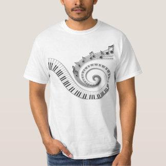 De Nota's van de Muziek van de Sleutels van de T Shirt
