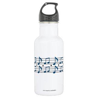 De Nota's van de muziek Waterfles