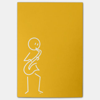 De Nota's van de Post-it van de saxofonist Post-it® Notes
