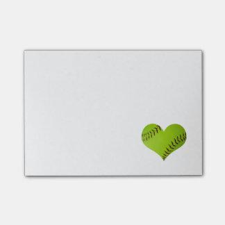 De nota's van de Post-it van het softball Post-it® Notes