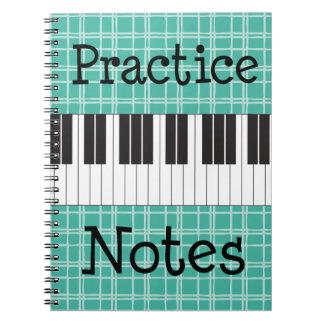 De Nota's van de Praktijk van de Muziek van de pia Notitie Boeken