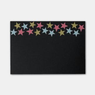 De Nota's van de ster over Zwarte Post-it® Notes