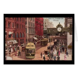 De notecard-vintage kunst-Staat & Randolph 1940 Kaart