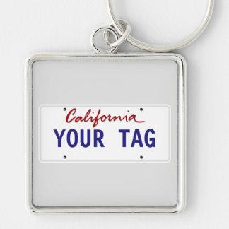 De Nummerplaat van Californië van de douane Sleutelhanger