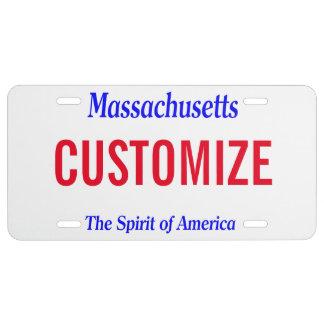 De Nummerplaat van de Douane van Massachusetts