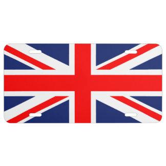 De Nummerplaat van Union Jack