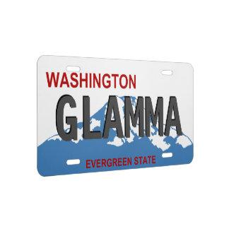 De nummerplaat van Washington Glamma