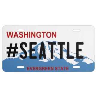 De nummerplaat van Washington Seattle